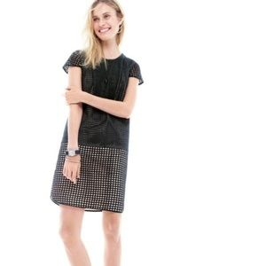J.Crew Triple Eyelet Shift Dress Black XS Petite